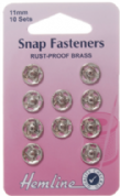 Hemline Snap Fasteners - 11mm